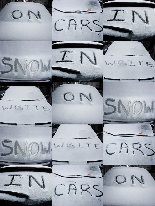 Write On Cars In Snow